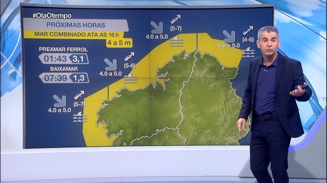 Aviso amarelo en todo o litoral galego - 26/10/2020 21:30
