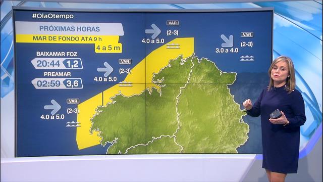 Aviso amarelo na costa ata as 9 da mañá do xoves - 24/02/2021 21:00