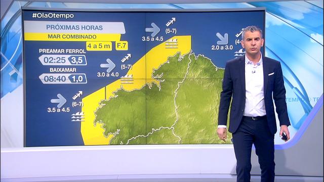 Aviso amarelo no litoral atlántico - 08/02/2021 21:30