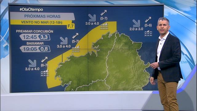 Aviso amarelo por vento do sur na costa da Coruña - 11/11/2020 07:00