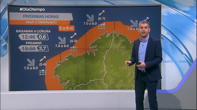 Aviso laranxa en toda a costa galega - 01/02/2021 07:00
