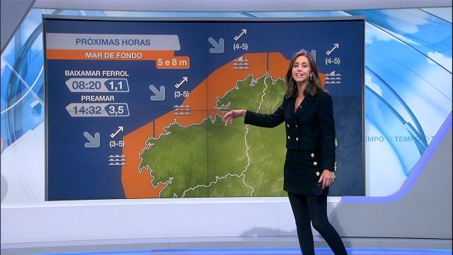 Aviso laranxa na costa galega, aínda que a ondada seguirá aumentando pola tarde - 28/10/2020 07:00