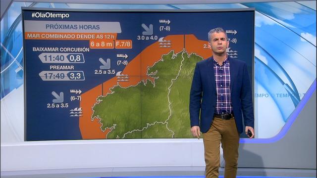 Aviso laranxa por mar combinado en toda a costa galega - 03/12/2020 07:00