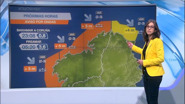 Aviso laranxa por mar de fondo na costa da Coruña ata a medianoite - 02/11/2020 21:30