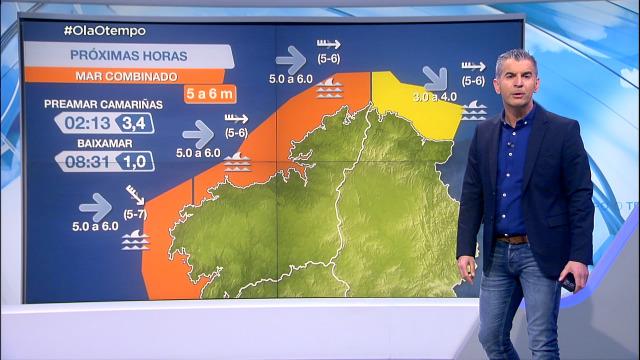 Aviso laranxa por mar de fondo no litoral atlántico - 09/02/2021 21:30