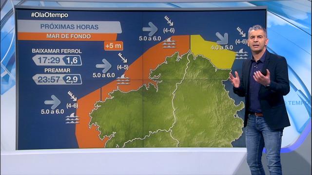 Aviso laranxa por mar de fondo no litoral atlántico - 22/01/2021 08:00