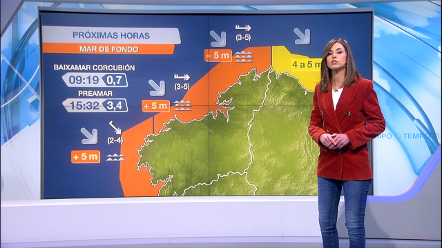 Aviso laranxa por ondas que soben dos 5 metros na costa atlántica - 09/02/2021 21:30