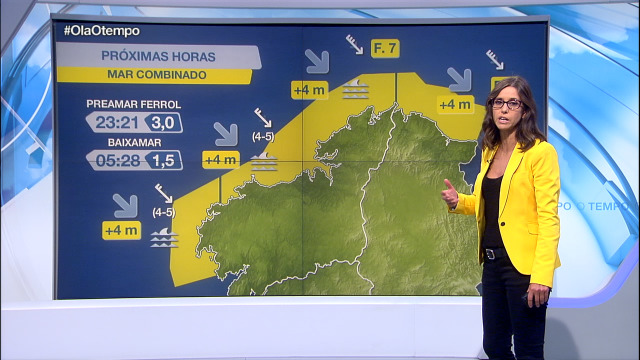 Aviso por mar combinado de ondas e vento na costa de Lugo e da Coruña - 24/09/2020 21:30
