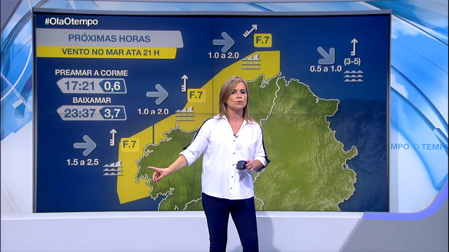 Aviso por vento do sur entre Bares e Fisterra - 19/08/2020 08:00