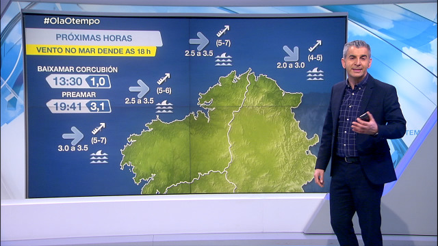 Aviso por vento do sur no litoral atlántico - 16/02/2021 18:15