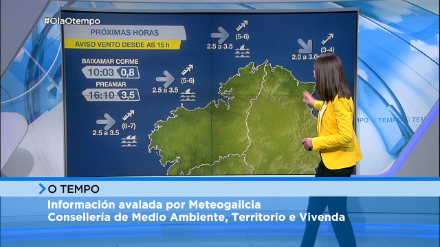 Avisos por vento na costa da Coruña durante a tarde - 28/01/2021 08:00
