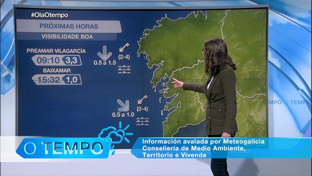 Boa visibilidade e circulación do nordés no litoral durante o Día de Reis - 06/01/2021 08:00