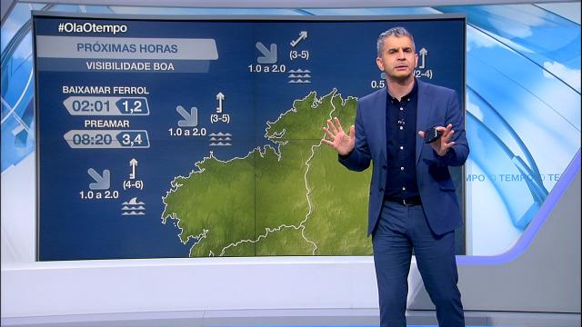 Gaña forza o vento do sur en toda a costa galega - 18/01/2021 21:30
