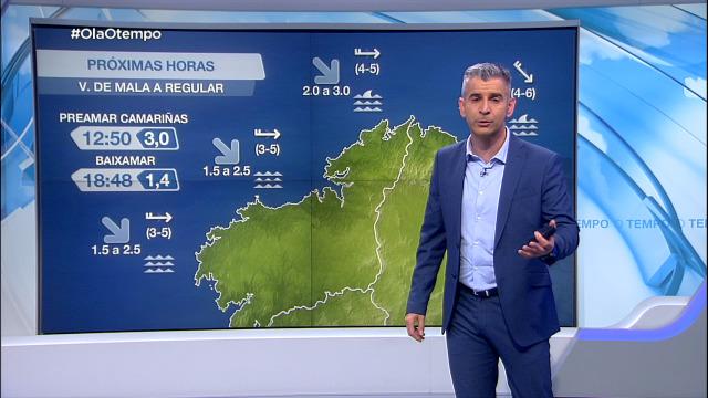 Manda o vento de compoñente oeste no litoral galego - 21/05/2021 08:00
