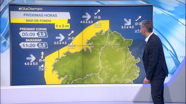 Mar de fondo durante toda a fin de semana con avisos no litoral atlántico - 12/02/2021 20:37