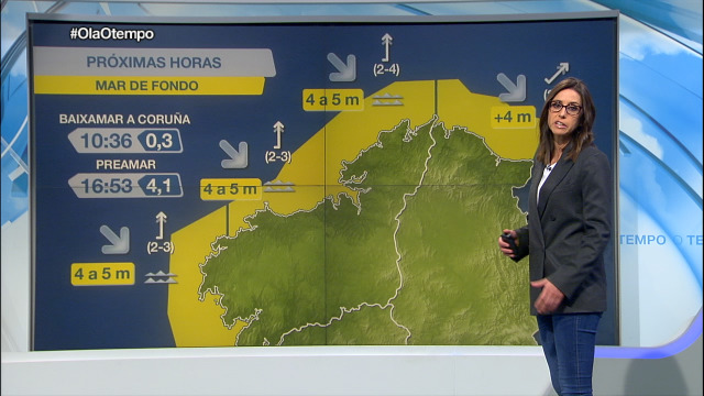 Mar de fondo na costa galega, con ondas de 4 a 5 metros - 16/11/2020 07:00