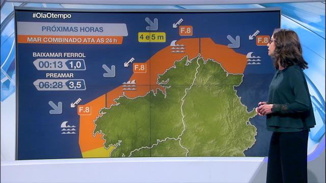 Nordés forza 8 na costa de Lugo e na da Coruña - 04/11/2020 21:30