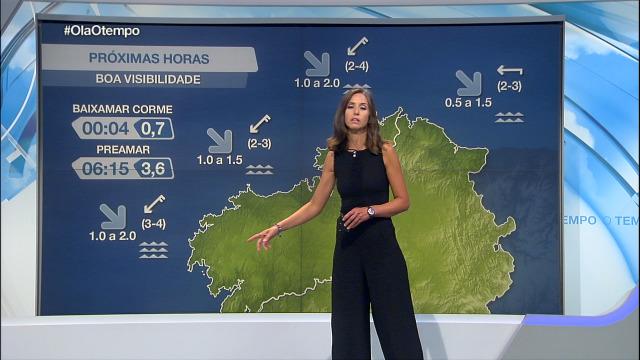 Nordés moderado no litoral coruñés - 03/09/2020 21:30