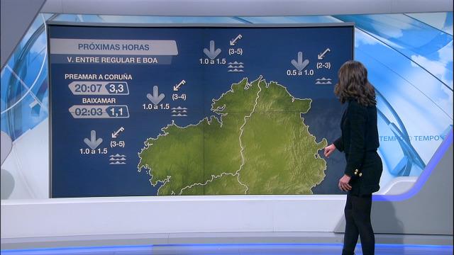Normalidade na costa galega con vento do nordés entre frouxo e moderado - 04/01/2021 21:30
