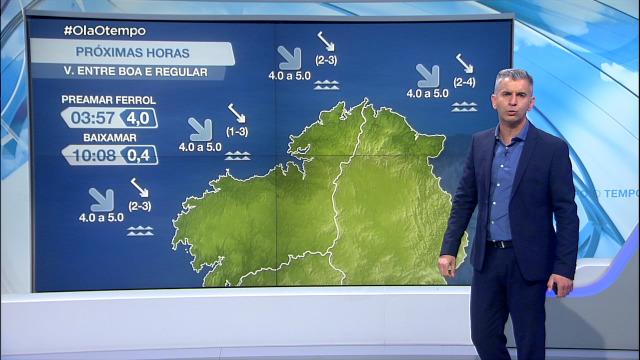 O anticiclón trae o vento do norte - 24/05/2021 20:00