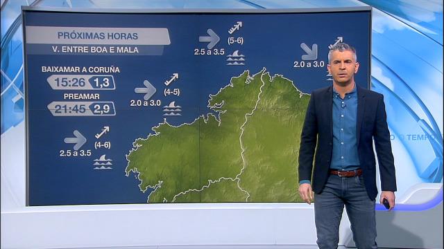 O inverno comeza con ventos de compoñente sur na costa galega - 21/12/2020 07:00