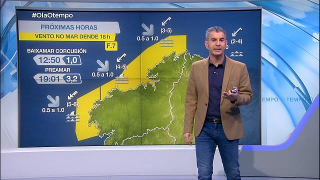 O vento do nordés volve deixar un aviso na costa da Coruña - 17/03/2021 21:21