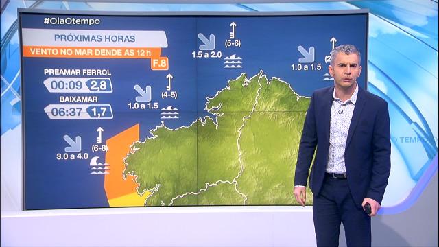 O vento do sur vai deixar en aviso boa parte da costa galega - 23/02/2021 08:00