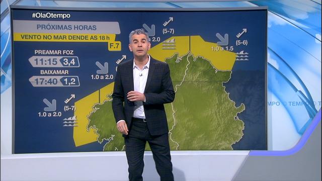 O vento do suroeste vai deixar pola tarde un aviso no litoral norte - 09/12/2020 08:00
