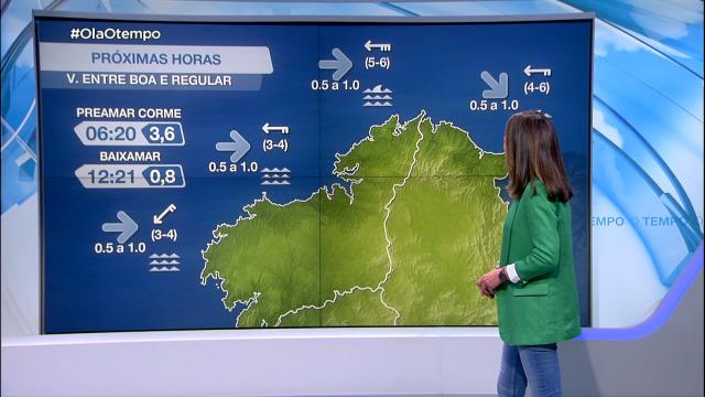 O vento gañará forza pola tarde e activarase un aviso entre Estaca de Bares e o cabo Prior - 14/04/2021 08:00