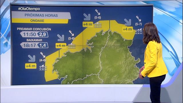 Ondas de máis de 4 metros no litoral da Coruña e de Lugo - 25/09/2020 08:00