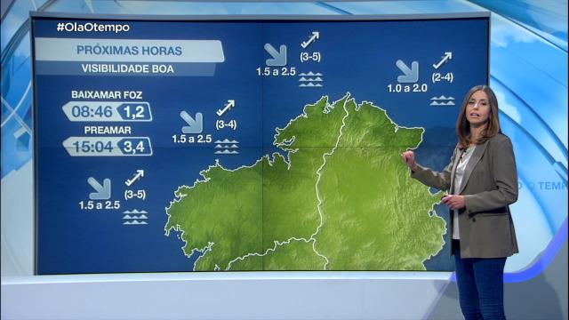 Persiste o réxime de vento do suroeste na costa galega - 07/05/2021 08:00