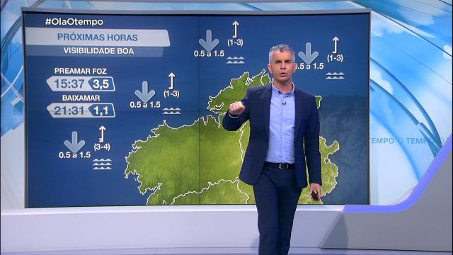 Situación na costa galega marcada polo vento de compoñente sur - 08/04/2021 08:00