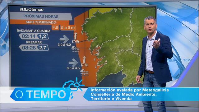 Temporal na costa galega - 19/01/2021 21:30
