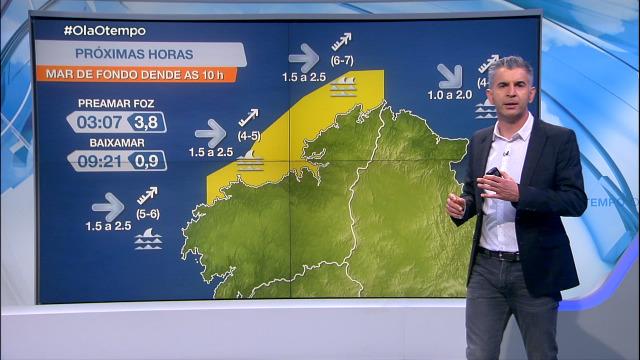 Unha borasca deixa avisos por vento e por mar de fondo na costa galega - 10/03/2021 20:00