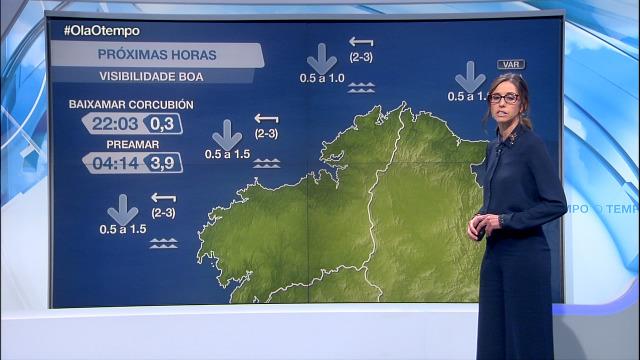 Vento de compoñente leste e boa visibilidade no litoral - 15/10/2020 21:30