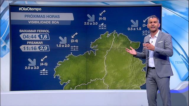 Vento do nordés e visibilidade boa na costa galega - 10/09/2020 21:30