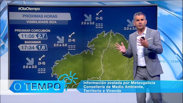 Vento do nordés e visibilidade boa no litoral galego - 11/09/2020 08:00