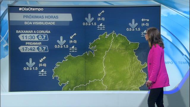 Vento do nordés moderado no litoral e con refachos fortes na Costa da Morte - 12/04/2021 07:00