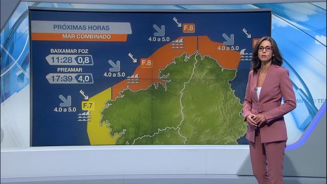 Vento do noroeste entre forte e moi forte no litoral de Galicia - 02/10/2020 08:00