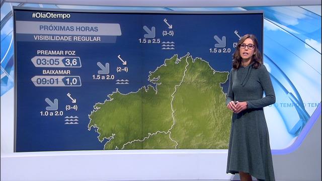 Vento do noroeste moderado na costa galega - 13/10/2020 21:30