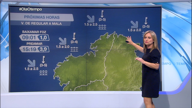 Vento do norte moderado en todo o litoral - 14/10/2020 07:00