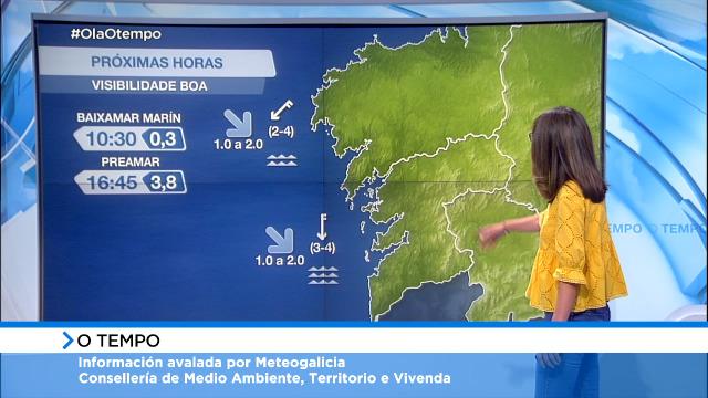 Vento do norte moderado entre Vilán e A Guarda, frouxo no resto da costa - 26/05/2021 08:00