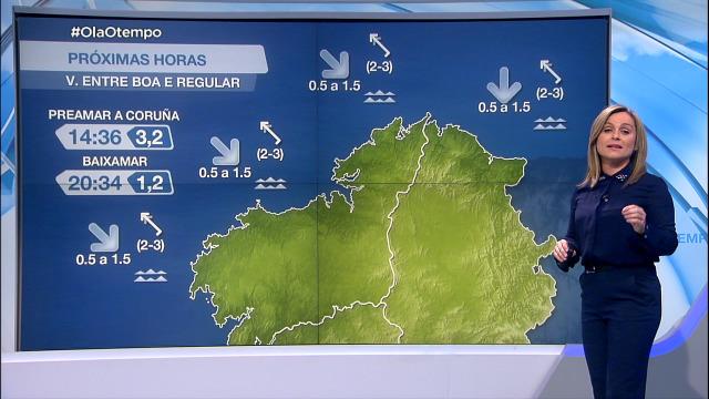 Vento do sueste deixará marusía pola tarde - 23/04/2021 08:00
