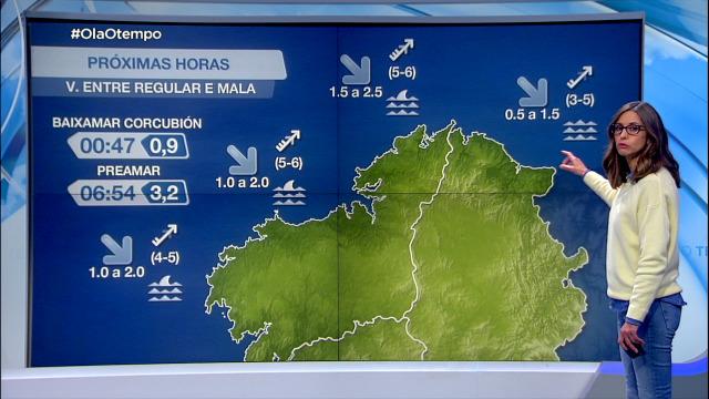 Vento do suroeste entre moderado e forte e mala visibilidade na costa da Coruña - 14/05/2021 20:00