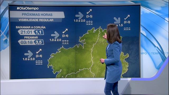 Vento do suroeste entre moderado e suave na costa galega - 26/01/2021 21:30