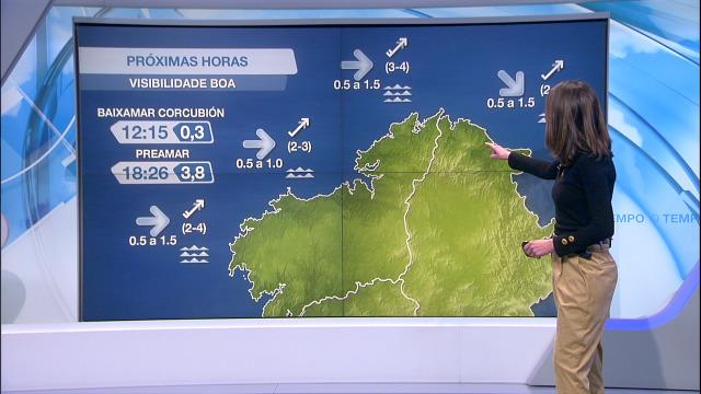 Vento do suroeste moderado na costa da Coruña e máis frouxo na Mariña e en Pontevedra - 02/03/2021 21:30