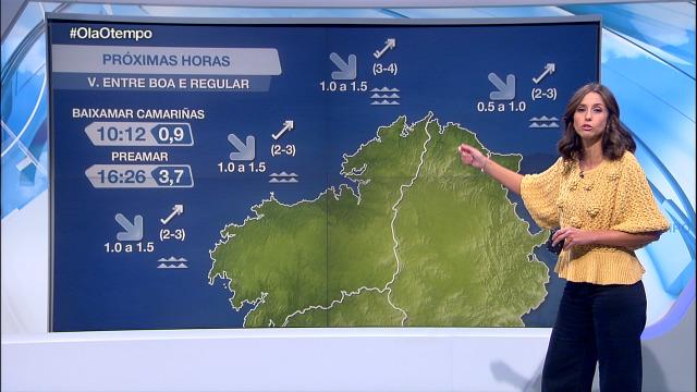 Vento do suroeste na costa, máis intenso entre Bares e o cabo Prior - 30/09/2020 08:00
