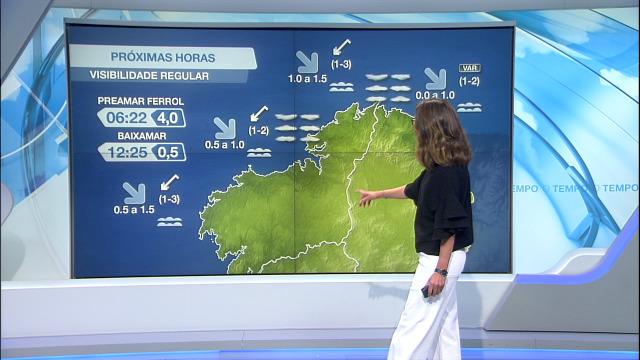 Vento frouxo e visibilidade regular, condicionada pola aparición das brétemas mariñas - 28/05/2021 08:00