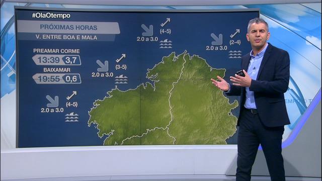 Vento moderado de compoñente sur na costa galega - 12/11/2020 07:00