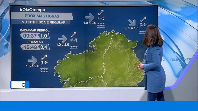 Vento moderado durante a mañá, aumentando pola tarde na costa da Coruña - 27/01/2021 07:58